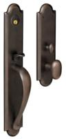 Baldwin M514 Boulder Full Escutcheon Complete Entry Set With Lockbody And Cylinder, Shown With Oval