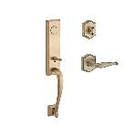 Baldwin  DELxDEC-TAR  Del Mar 3/4 Escutcheon Handleset with Decorative Lever and Traditional Arch Ro