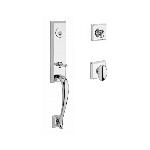 Baldwin  DELxELL-TSR  Del Mar 3/4 Escutcheon Handleset with Ellipse Knob and Traditional Square Rose