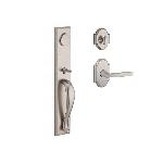 Baldwin  LONxTAP-RAR  Longview Full Escutcheon Handleset with Taper Lever and Rustic Arch Rose Entra
