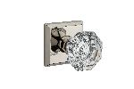 Baldwin CRY-TSR Crystal Reserve Knob with Traditional Square Rose